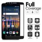 Bkack Full Screen Tempered Glass Screen Protector For LG Stylo 3 LS777