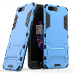 Slim Rugged Armor Hybrid Defender Protective Case with Kickstand for OnePlus 5 - Blue