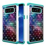 Crystal Bling Design Hybrid Armor Protective Case Cover For Samsung Galaxy Note 8 - Nebula