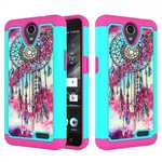 Hybrid Dual Layer Shockproof Defender Protective Case Cover For ZTE Maven 3 Z835 - Dream Catcher