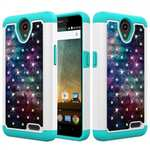 Luxury Bling Diamond Hard Rubber Hybrid Protective Case For ZTE Maven 3 Z835 - Nebula