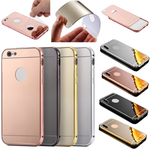 Luxury Aluminum Metal Bumper Mirror Back Case Cover for iPhone 6 6 Plus 7 7 Plus / 8 8 Plus X