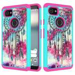 Patterned Hybrid Hard Silicone Shockproof Protective Case For Google Pixel 2 XL - Dream Catcher