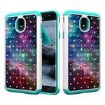 Fashion Diamond Bling Hybrid Dual Layer Shockproof Protector Case For Samsung Galaxy J3 (2018) - Nebula