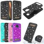 For Motorola Moto Z3 Play Glitter Bling Hybrid Shockproof Phone Case Cover