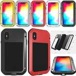 Aluminum Metal Gorilla Glass Shockproof Case for iPhone 6 / 6 Plus / 7 / 7 Plus / 8 / 8 Plus / X / XS Max / XS / XR