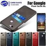 For Google Pixel 3a Wallet Case Luxury PU Leather Card Pocket Back Cover