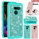 For LG V60 ThinQ 5G Phone Case Shockproof Bling Glitter Hybrid Cover