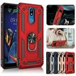 For LG K40 / K12 Plus / X4 2019 Magnetic Ring Holder Stand Hybrid Case Cover