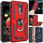 For LG Stylo 5 ShockProof Case Ring Kickstand Hard Hybrid Armor Cover