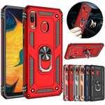 For Samsung Galaxy A71 5G A10e A20 A51 A21 A31 A41 A11 A50 Phone Case Armor Ring Holder Cover
