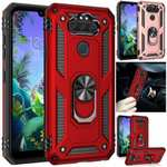 Case For LG K31 | Risio 4 | Aristo 5 | Tribute Monarch | Premier Pro Plus Shockproof Ring Holder Stand Cover