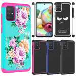For Samsung Galaxy A71 5G UW A11 A21 Case Hybrid TPU Dual Layer Shockproof Hard Phone Cover