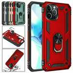 For iPhone 12 mini 12 Pro Max Case Shockproof Armor Ring Holder Stand Cover