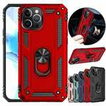 For iPhone 12 Mini Pro Max Phone Case Shockproof Heavy Duty Ring Stand Holder Cover