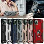 For iPhone 12 Pro Max 12 Mini Shockproof Magnetic Ring Holder Case Rugged Cover