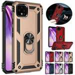 For Google Pixel 4a 5G Case Metal Ring Kickstand Shockproof Hard Phone Cover