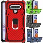 For LG Stylo 6 Phone Case Shockproof Rugged Ring Kickstand Hybrid Armor Cover