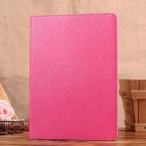 Crazy Horse Pattern Leather Stand Case for iPad Air - Rose red