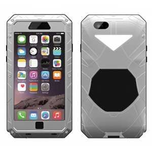 Aluminum Metal Gorilla Glass Waterproof Case Cover for iPhone 6/6S 4.7inch - Silver