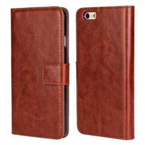 Crazy Horse Leather Wallet Style Case For iPhone 6 Plus/6S Plus 5.5inch - Brown