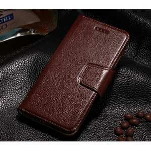 Luxury Head Layer Genuine Cowhide Leather Wallet Case for iPhone 6 Plus/6S Plus 5.5inch - Wine Red