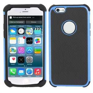 High Impact Combo Matte Soft Hard Case Cover for iPhone 6 Plus/6S Plus 5.5inch - Blue