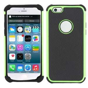 High Impact Combo Matte Soft Hard Case Cover for iPhone 6 Plus/6S Plus 5.5inch - Green