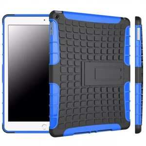 Shockproof TPU Hybrid Hard Kickstand Case Cover For iPad Air 2 - Blue