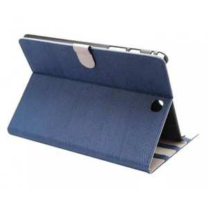 Wood Grain Pattern Flip Folio Leather Case for Samsung Galaxy Tab A 9.7 T550 - Dark blue