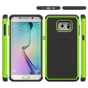 Dual Layer Hybrid Shockproof Case Cover for Samsung Galaxy S6 Edge+ - Green