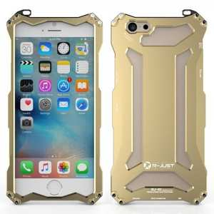 Original R-JUST Aluminum Metal Shockproof Frame Case For iPhone 6S/6 4.7inch - Gold