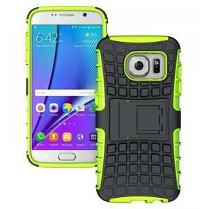 Heavy Duty Rugged TPU Impact Kickstand ShockProof Case Cover for Samsung Galaxy S7 - Green