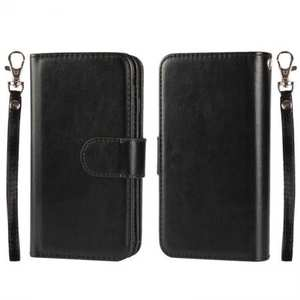 Magnetic Removable Detachable Horizontal Flip PU Leather Wallet Case for iPhone 6S/6 Plus 5.5Inch - Black
