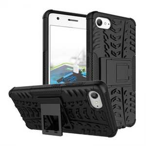 Hard Protective Hybrid Armor Tough Kickstand Phone Cover Case For Lenovo ZUK Z2 - Black