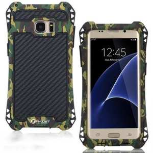R-JUST Shockproof Aluminum Metal Case for Samsung Galaxy S7 Edge - Camouflage