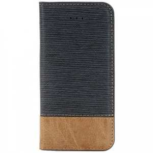Cross Pattern Crazy Horse Leather Flip Stand Case for iPhone 7 4.7 inch - Dark Blue