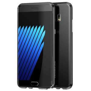 Luxury Ultra Thin Aluminum Metal Bumper Frame Case Cover for Samsung Galaxy Note 7 - Black