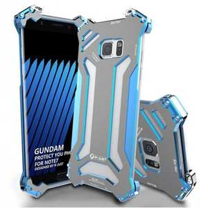 R-JUST Gundam Luxury Shockproof Aluminum Metal Case Cover for Samsung Galaxy Note 7 - Blue