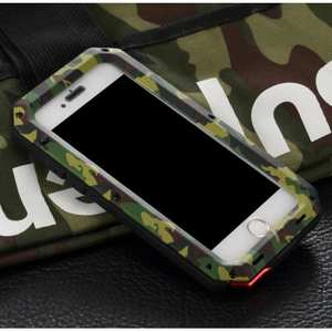 R-JUST Metal Aluminum Gorilla Glass Shockproof Case For iPhone 6S Plus / 6 Plus 5.5inch - Camouflage
