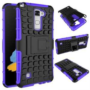 Rugged Armor Dual Layer Hybrid Kickstand Protective Case for LG Stylo 2 PLUS MS550 - Purple