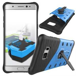 Rugged Armor Shockproof Hybrid Kickstand Protective Case for Samsung Galaxy Note 7 - Blue