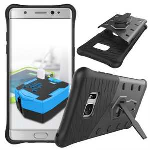 Rugged Armor Shockproof Hybrid Kickstand Protective Case for Samsung Galaxy Note 7 - Gray