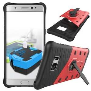 Rugged Armor Shockproof Hybrid Kickstand Protective Case for Samsung Galaxy Note 7 - Red