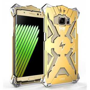 Shockproof Armor Aluminum Metal Protection Case for Samsung Galaxy Note 7 - Gold