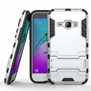 Shockproof Dual Layer Hybrid Armor Kickstand Protector Case For Samsung Galaxy Express 3 - Silver