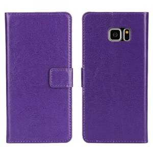 Crazy Horse PU Leather Flip Stand Wallet Case For Samsung Galaxy Note 7 - Purple