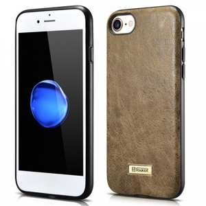Icarer Genuine Cowhide Leather Back Case Cover For iPhone 7 4.7 inch - Khaki