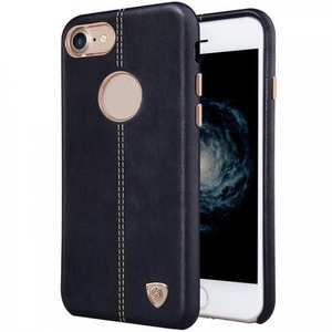 NILLKIN Englon Series Leather Back Case Cover for iPhone 7 4.7 inch - Black