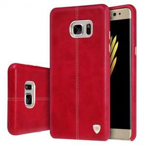 NILLKIN Englon Series Leather Back Case Cover for Samsung Galaxy Note 7 - Red